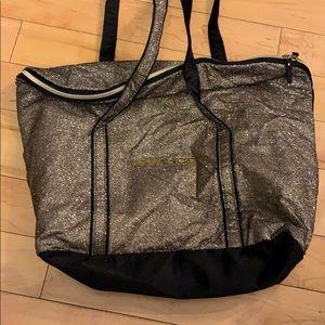Victoria's Secret gold glitter bag